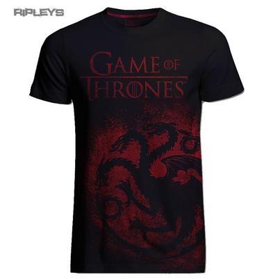 Official T Shirt Game of Thrones Distressed Dragon JUMBO Targaryen All Sizes