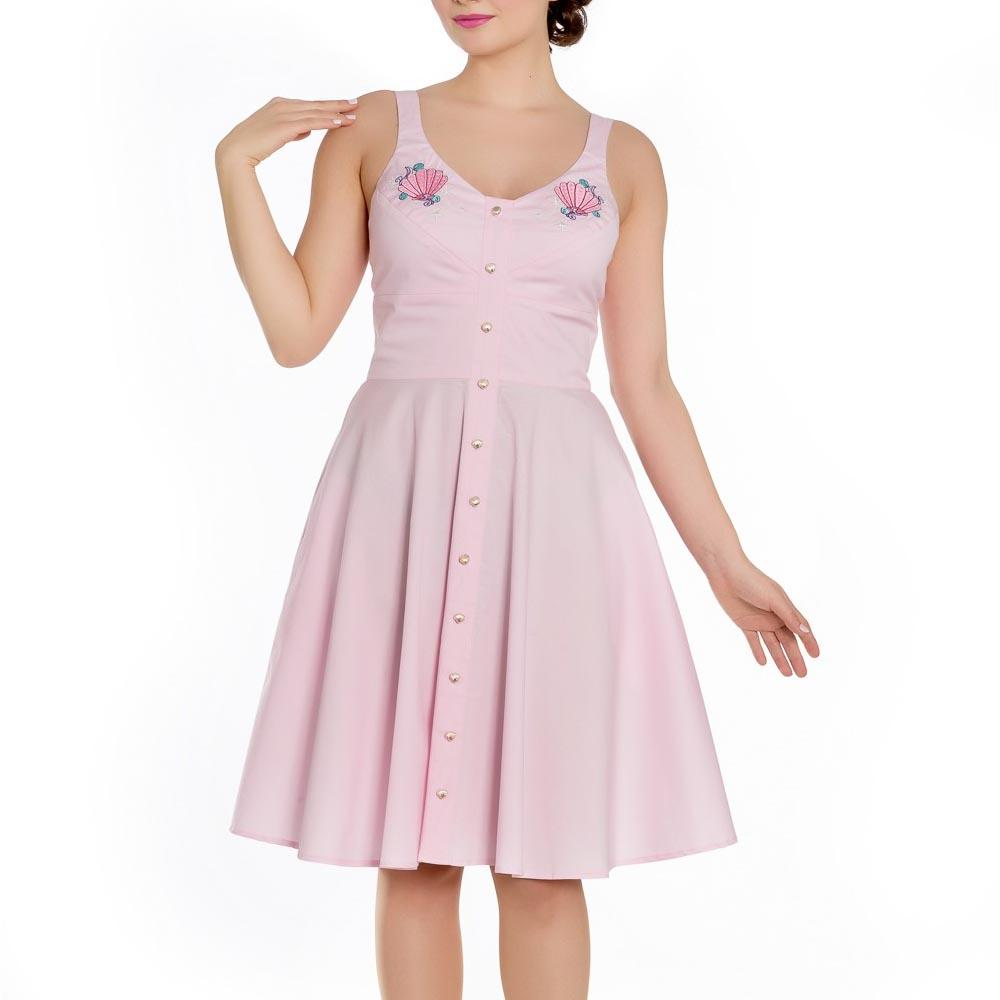 Hell Bunny Baby Pink 50s Pin Up Dress LORELEI Mermaid ...