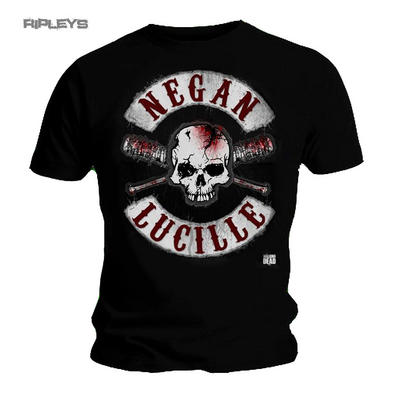 Official T Shirt The Walking Dead Skull Negan & LUCILLE Crossed Bats All Sizes