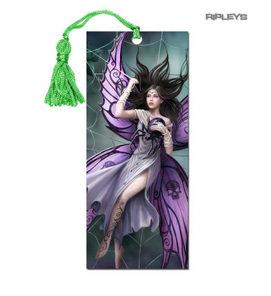 ANNE STOKES 3D Bookmark Gothic Fantasy Fairy Angel Spider Web 'Silk Lure' #7