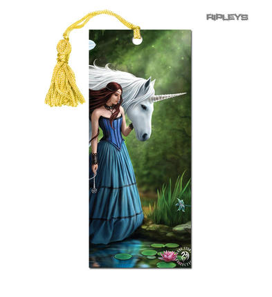 ANNE STOKES 3D Bookmark Gothic Fantasy Fairy Unicorn 'Enchanted Pool' #18