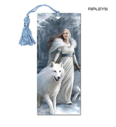 ANNE STOKES 3D Bookmark Gothic Fantasy Angel Wolf 'Winter Guardian' #13
