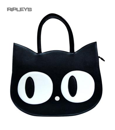 BANNED Clothing Large Black CAT EYES Heart of Gold Handbag Shoulder