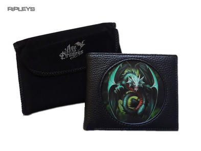 ANNE STOKES 3D Age of Dragons Wallet Black PU Gothic Fantasy 'Jade Dragon'