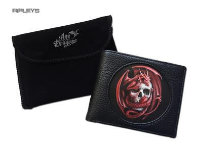 ANNE STOKES 3D Age of Dragons Wallet Black PU Gothic Fantasy 'Dragon Skull'