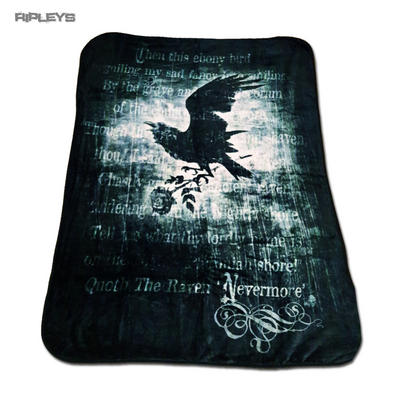 Alchemy Gothic Luxury Thick Fleece Throw Blanket Crow NEVERMORE Single