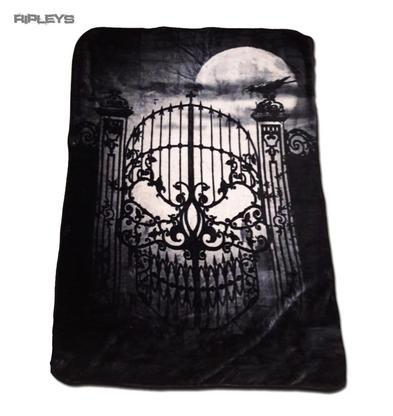 Alchemy Gothic Luxury Thick Fleece Throw Blanket Skull ABANDON Hope Single