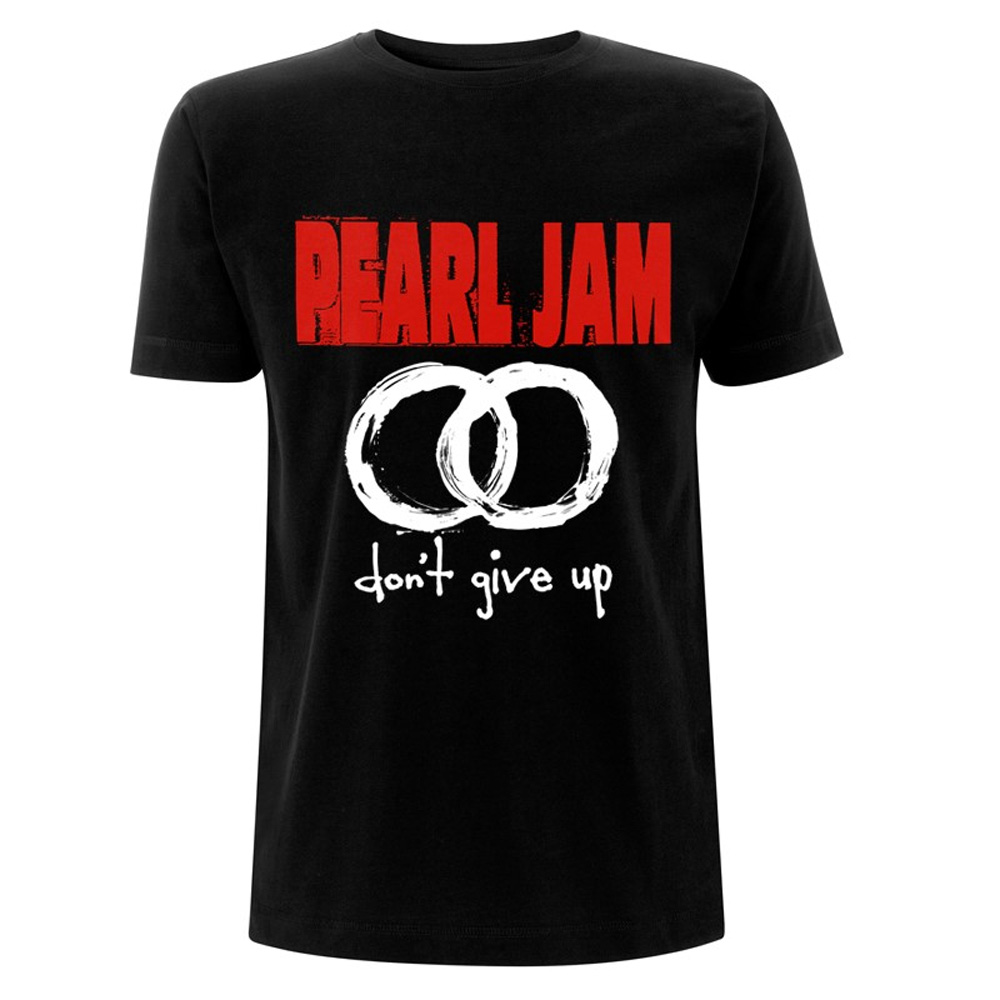 Official T Shirt PEARL JAM Classic Logo Don/'t Give Up All Sizes