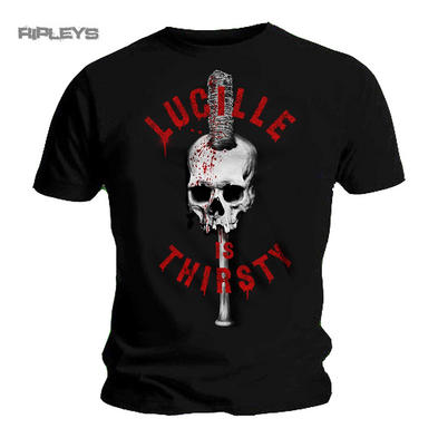 Official T Shirt The Walking Dead Negan Lucille Is THIRSTY Skull All Sizes