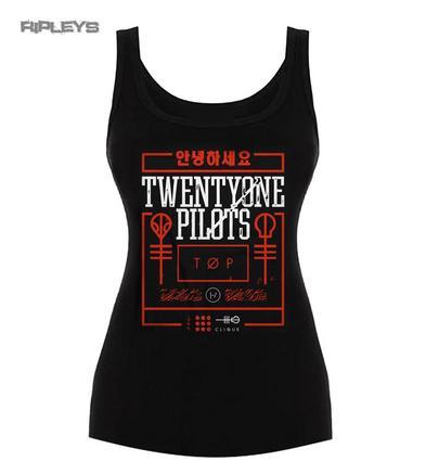Official Ladies T Shirt 21 Twenty One Pilots Clique BUSY BOX Vest Top All Sizes