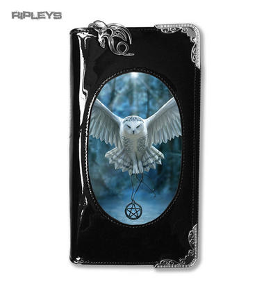 ANNE STOKES 3D Purse Wallet Black PVC Gothic Fantasy Owl 'Awake The Magic'