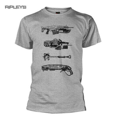 Official T Shirt Game Gears of War 4 Distressed WEAPONS Grey All Sizes