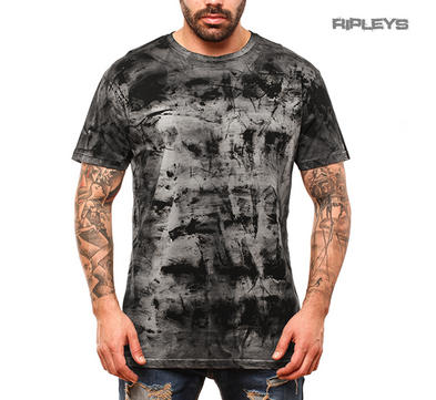 Outer Vision Unisex T Shirt Grunge Vintage Distressed 'Spatolato' Grey All Sizes