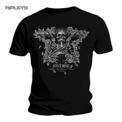 Official T Shirt GUNS N ROSES Xerox Distressed SKELETON Guns All Sizes