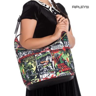 Hell Bunny Goth Punk Large Tote Shoulder B-MOVIE Horror Boho Handbag