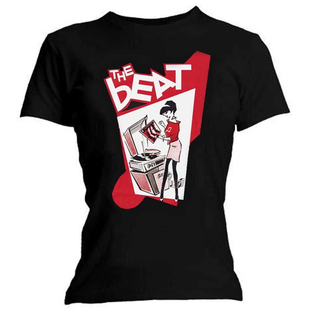 Official Ladies T Shirt THE BEAT Ska Band /'Record Player Girl/' All Sizes