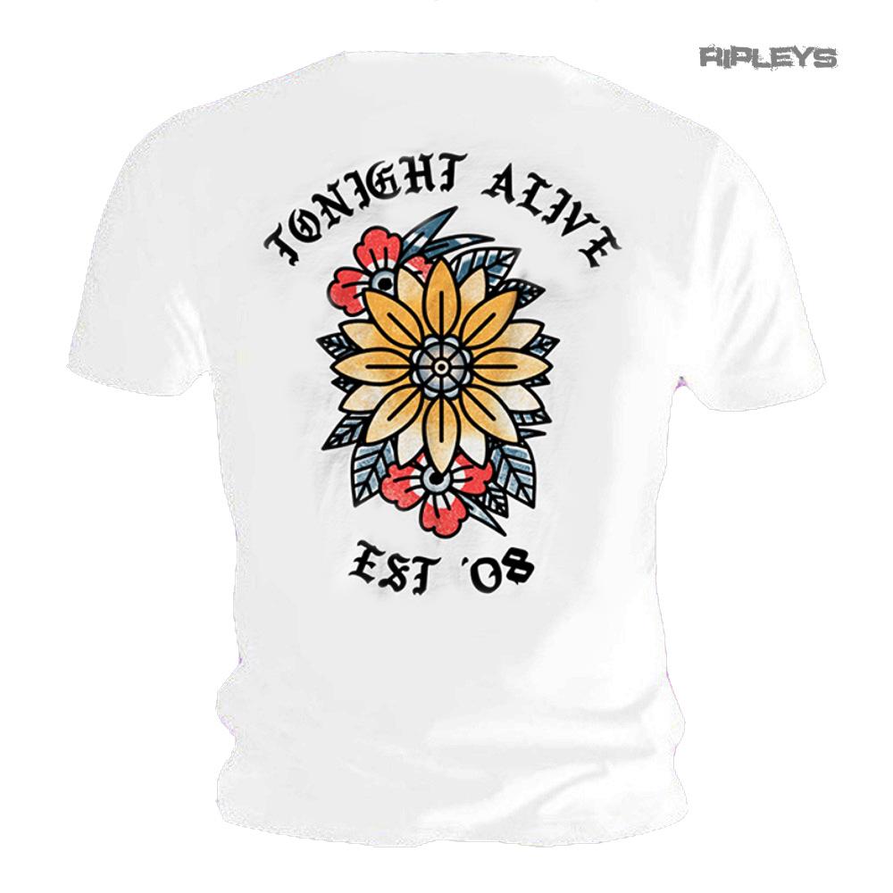 Camiseta oficial esta noche Vivo Blanco Flor con el logotipo /'est 2008/' todos los tamaños
