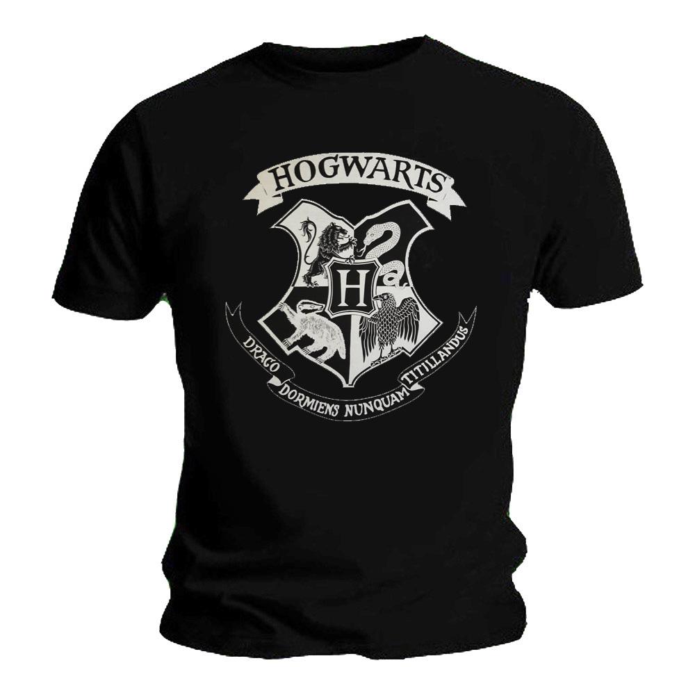 Official T Shirt Harry Potter Hogwarts Houses Classic SIGIL Crest Black