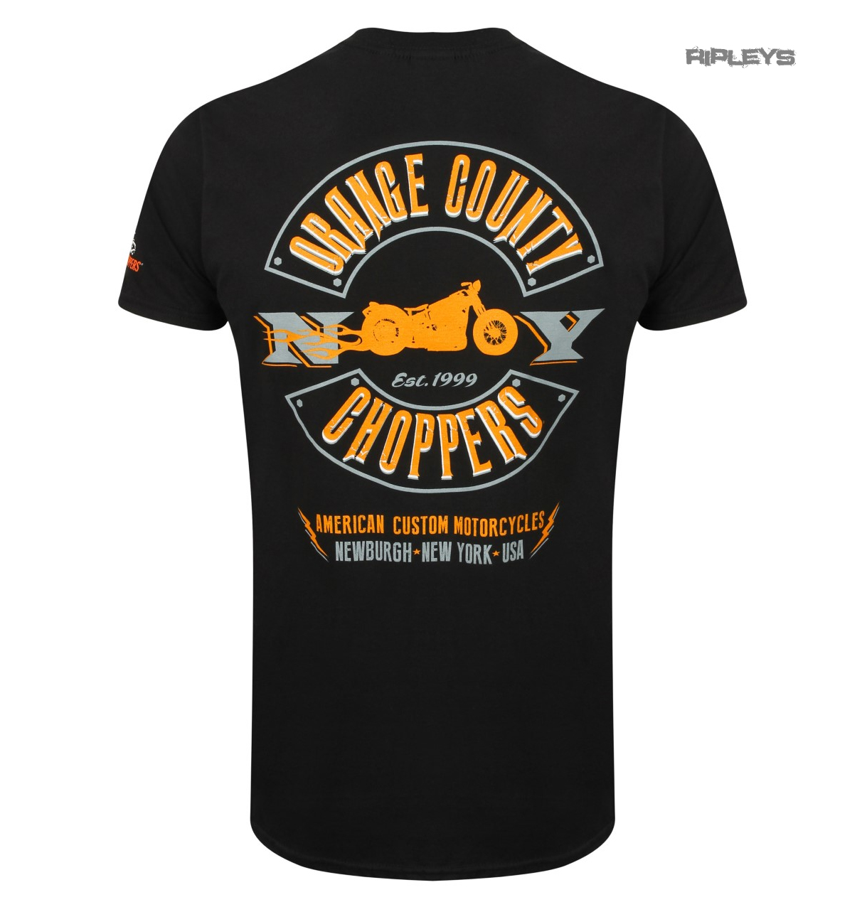 Official OCC T Shirt Orange County Choppers LIGHTNING Motorcycle All Sizes