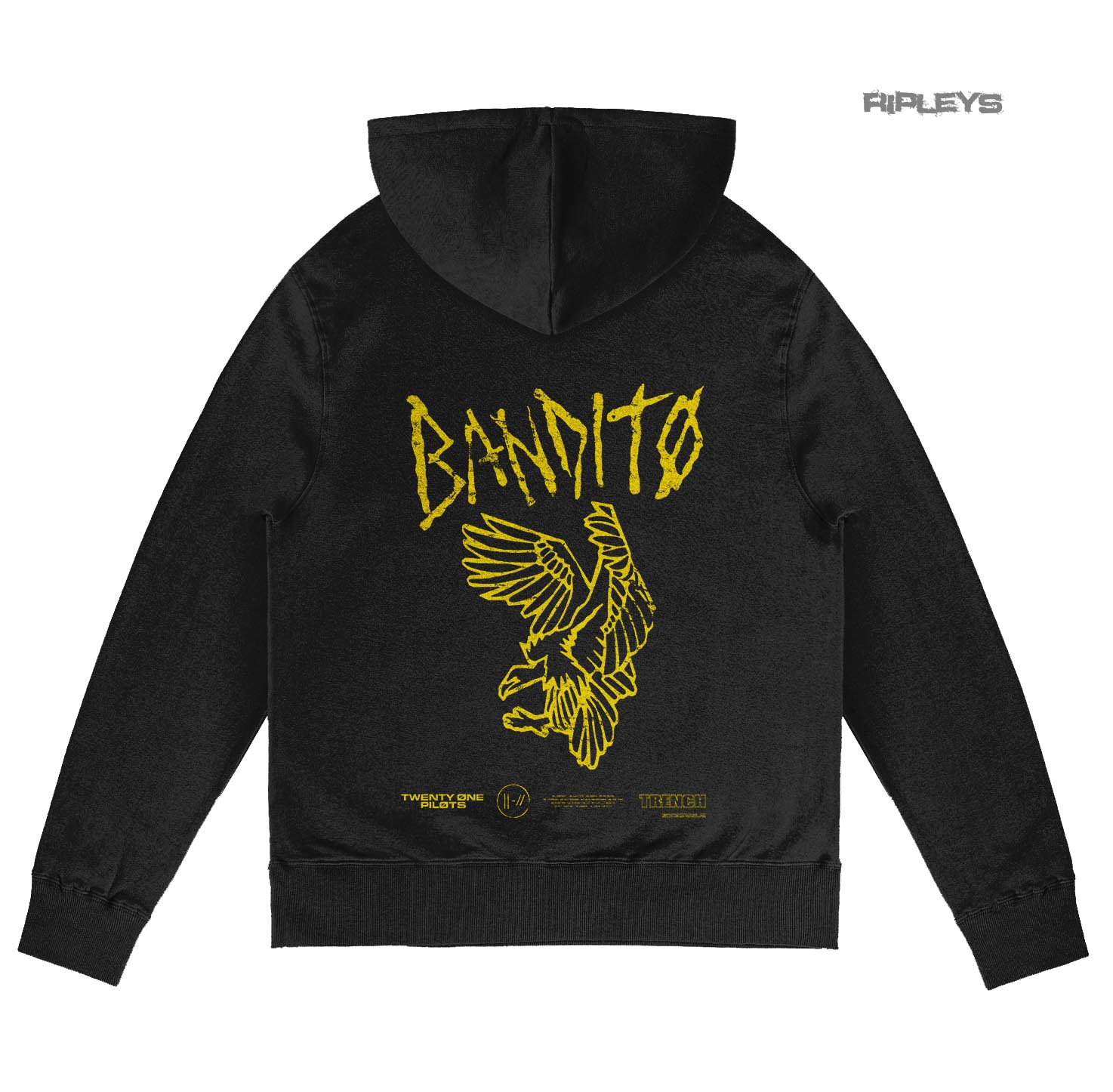 Official Twenty one 21 Pilots Black Hoody Hoodie Pullover FLYER Bandito TRENCH