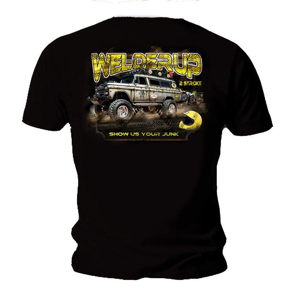 Official WELDERUP Garage Custom Hot Rod Car T Shirt /'2 STROKE/' All Sizes