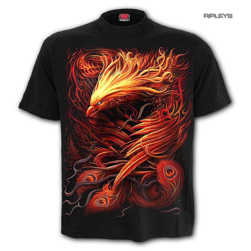 Spiral Direct Unisex T Shirt Angel Gothic PHOENIX ARISEN Flames Fire All Sizes