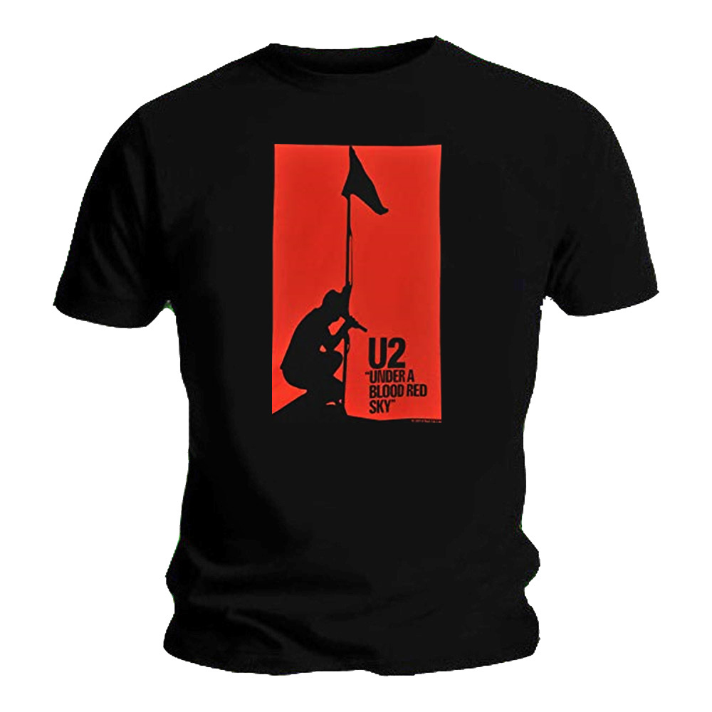 Official T Shirt Classic Rock  U2  Album Cover  /'Blood Red Sky/' All Sizes