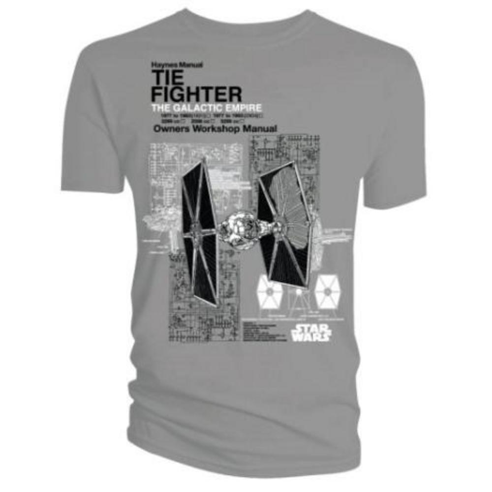 Official T Shirt Star Wars Grey Tie Fighter Haynes M