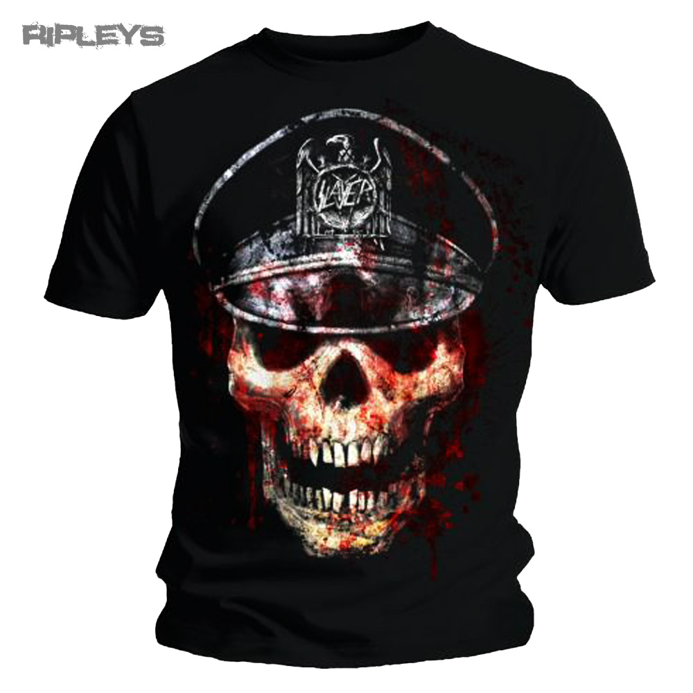 official t shirt slayer metal skull hat large all sizes ebay. Black Bedroom Furniture Sets. Home Design Ideas
