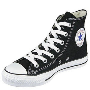 Converse All Star HI Canvas Pumps Trainers Shoes Black/White Size 3 - 11