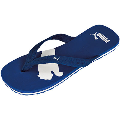 puma basic flip flops blue white womens mens size 7. Black Bedroom Furniture Sets. Home Design Ideas