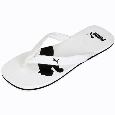 puma flip flops weiß