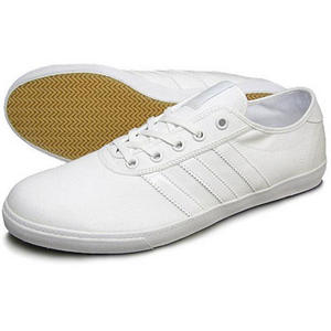 Adidas Originals Plimsole Canvas Trainers White Mens Size