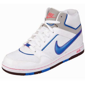 View Item Nike Air Prestige 3 High Trainers White/Blue Mens Size
