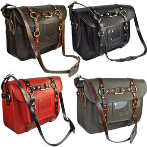 View Item Vintage Leather LYDC Laptop Breifcase Shoulder Satchel
