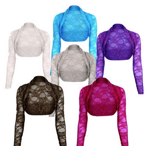 View Item Womens Lace Shrug Bolero Crop Cardigan Top Ladies Sizes 8-14