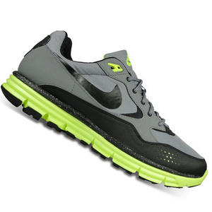 View Item Nike Lunar Wood+ Grey/Black Lighweight Running Trainers Mens Size