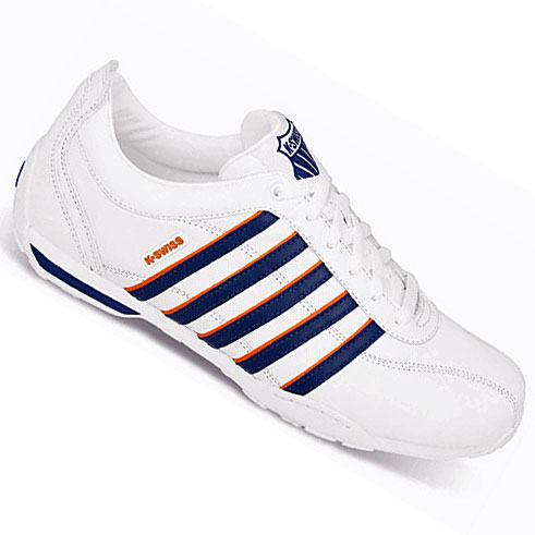 k swiss arvee 1 5 low white navy trainers mens size ebay. Black Bedroom Furniture Sets. Home Design Ideas