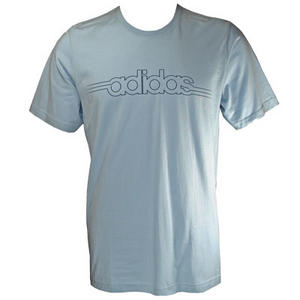 View Item Adidas Performance Running Stich T-Shirt Sky Blue Mens Size