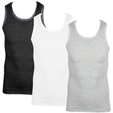 Soul Star MV Fresh Slim Fit Ribbed Vest Top Mens Size Preview