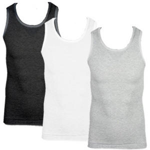 Soul Star MV Fresh Slim Fit Ribbed Vest Top Mens Size