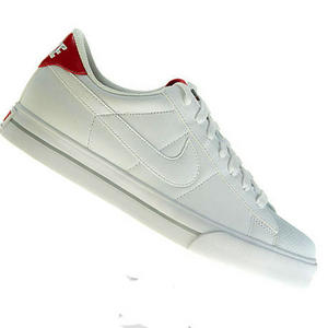 View Item Nike Sweet Classic Leather Trainers White/Red Mens Size