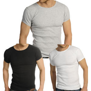 View Item Soul Star Fitted Ribbed Crew Neck T-Shirt Mens Sizes