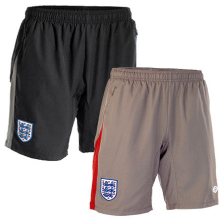 Umbro Official England Woven Football Training Shorts Mens Size Enlarged Preview