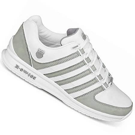 K-Swiss Rinzler Low Leather Trainers White/Gull Grey Mens Size Preview