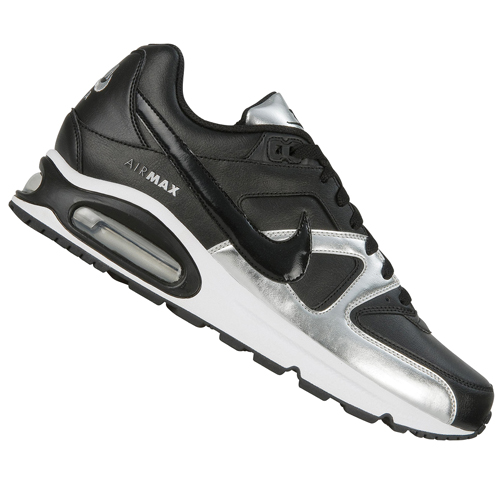Nike Air Max Command Leather Trainers BlackSilver Mens Size