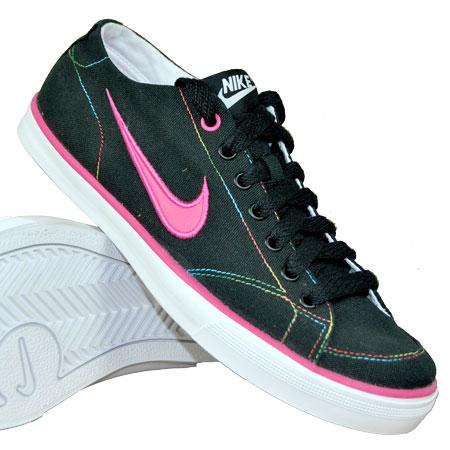 Nike-Capri-Canvas-Trainers-Black-White-Womens-Size