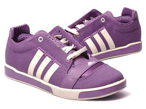 View Item Adidas a/f 80 Canvas Pumps Trainers Purple/White Womens Size UK