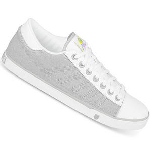 View Item K-Swiss Court PC Canvas Trainers Grey/White Mens Size