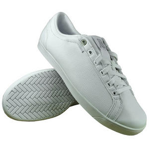 View Item K-Swiss All Court Tennis Leather Trainers White Mens Size
